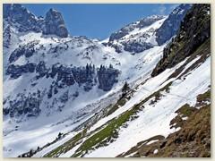 11 Aufstieg auf Schneespuren zum Col de la Croix