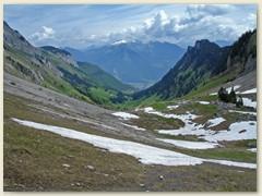 40 Bei La Jeur, Richtung Rhonetal mit dem Ort Miex