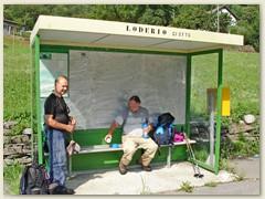 28 Alte Bus Haltestelle der Autolinee Bleniesi SA in Loderio