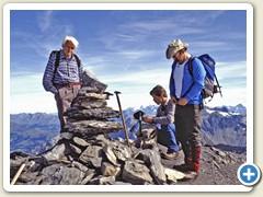 25 Der Steinmann auf dem Gipfel