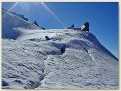 10 Am anderen Morgen - Erste Steilstufe im Aufstieg