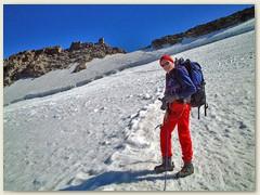 13 Unterhalb des Gipfels mit Tourenleiter