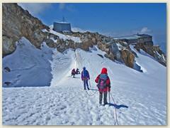32 Die letzten Aufstiegsmeter zum Rifugio Gnifetti CAI 3625 m