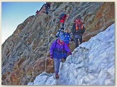 34 Der letzte Tag - Abstieg unterhalb des Rifugio Gnifetti