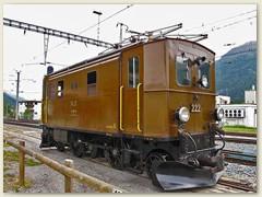 """06r Die Ge 2/4 Nr. 222 """"Schnupftrückli"""", ehemalige Rangier- und Vorspannlok, fuhr vorwiegend auf der Albulalinie"""
