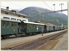 """18r Historischer Zug (""""grüner Zug"""")"""