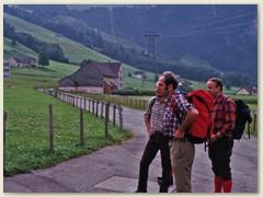 In Brülisau mit der Luftseilbahn auf den Hohen Kasten