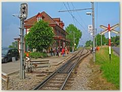 10_Haltestelle Leymen im Elsass. Mit der BLT zurück nach Basel