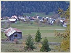 09 Dorfansicht vom Chalet aus gesehen, November 2006