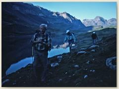 03 Der Glattalpsee liegt in einer Mulde oberhalb von Bisisthal Kanton Schwyz