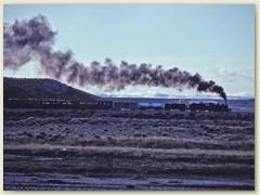 10 Lok, Tender, vier Güterwagen und zwei Personenwagen