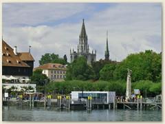 32 Konstanzs Zentrum am See, grösste Stadt am Bodensee
